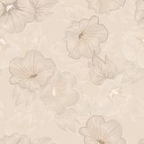 Vector floral seamless pattern Royalty Free Stock Photo