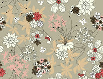 Vector floral seamless pattern Royalty Free Stock Images