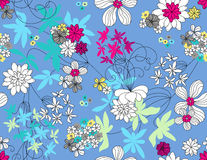 Vector floral seamless pattern Stock Photos