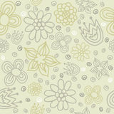Vector floral seamless pattern with abstract flowers Royalty Free Stock Photography