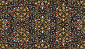 Vector floral seamless pattern background in Arabian style. Arabesque pattern. Eastern ethnic ornament. Royalty Free Stock Photo