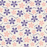 Beautiful Vector floral seamless pattern background stock illustration