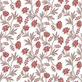 Vector Floral Seamless Pattern Background Stock Images