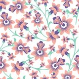 Beautiful floral vector seamless pattern background vector illustration