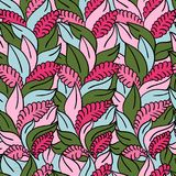 Vector Floral Seamless Pattern Background Royalty Free Stock Image