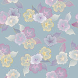 Vector floral seamless pattern beautiful flowers stock illustration