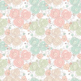 Vector floral seamless pattern with blooming roses Stock Photography