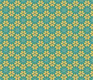 Vector floral seamless pattern in blue and orange colors Stock Image