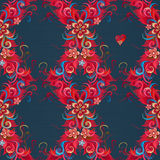 Vector floral seamless pattern in Eastern style. Royalty Free Stock Photo