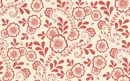 Vector floral seamless pattern element in Arabian style. Arabesque pattern. Eastern ethnic ornament. Stock Image