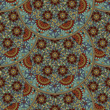 Vector floral seamless pattern element in Arabian style. Arabesque pattern. Eastern ethnic ornament. Royalty Free Stock Photo