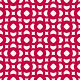 Vector floral seamless pattern. Festive red and white. Vector seamless pattern in oriental style. Red and white geometric ornament, abstract background texture Royalty Free Stock Photography