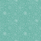 Mint floral pattern Royalty Free Stock Image