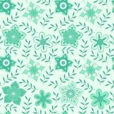 Vector floral seamless pattern. Handdrawn botanical backdrop royalty free stock image