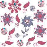 Vector floral seamless pattern. It is located in swatch menu. Cute image vector Royalty Free Stock Images