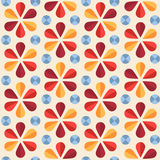 Vector floral seamless pattern, origami style Stock Images