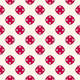Vector floral seamless pattern. Red and beige geometric. Ornament, abstract background texture with flower shapes, circles. Festive holiday design for prints Royalty Free Stock Photos