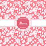 Vector floral seamless pattern with roses. Royalty Free Stock Image