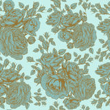 Vector floral seamless pattern with roses and persian buttercup Royalty Free Stock Photos