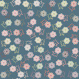 Vector  floral seamless pattern in vintage colors, Royalty Free Stock Images