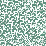 Vector floral seamless pattern on white background Stock Photo