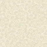 Vector floral seamless retro pattern on beige background Stock Images