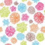 Vector floral seamless wallpaper background pattern Stock Image