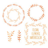 Vector floral set. Royalty Free Stock Image