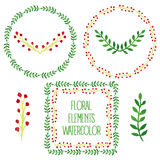 Vector floral set. Stock Image