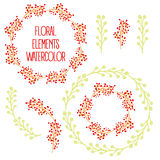 Vector floral set Royalty Free Stock Photography
