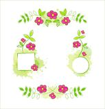 Vector Floral Set. EPS-10. Hi res jpeg included Royalty Free Stock Photos