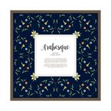 Vector floral square frame in  Eastern style. Royalty Free Stock Image