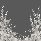 Vector Floral Summer Background Royalty Free Stock Photo