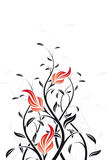 Vector Floral Swirl Stock Images