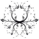 Vector Floral Swirl Royalty Free Stock Image