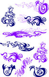 Vector Floral Swirls. Vector Images of a Variety of Floral Swirls Royalty Free Stock Photography