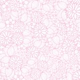 Vector floral texture pattern in pink and white stock illustration