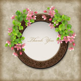 Vector Floral Thank you Card Stock Photos