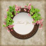 Vector Floral Thank you Card Stock Photos