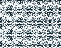 Vector floral tribal style seamless pattern tile Stock Photography
