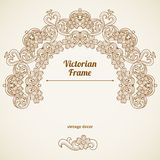 Vector floral vignette in Victorian style. Stock Photos