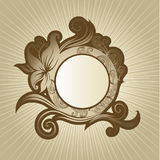 Vector Floral vintage frame Royalty Free Stock Photos