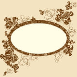 Vector Floral vintage grunge frame. (From my Floral collection Stock Photos