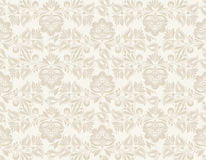 Vector Floral vintage rustic seamless pattern Stock Photography