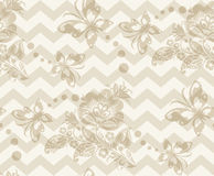Vector Floral vintage rustic seamless pattern Royalty Free Stock Photos