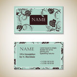 Vector Floral Visit Card Template Royalty Free Stock Image