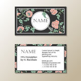 Vector floral visit card template Royalty Free Stock Photos