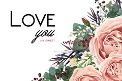 Free Vector Floral Watercolor Style Card Design: Lavender Antique Pin Stock Photo - 107291930