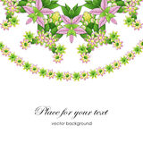 Vector floral watercolor texture pattern with  flowers Royalty Free Stock Photography