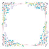 Vector Floral With Bubbles And Vines Stock Photo